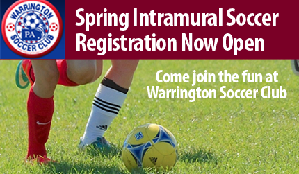 Warrington Soccer Club Spring Registration Now Open