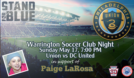 Join Us At PPL Park & Stand For Paige LaRosa