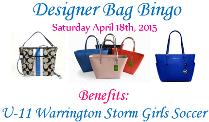 Designer Bag Bingo - April 18th, 2015