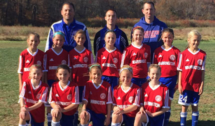 Girls U10 Red Are PAGS First Place Champs!