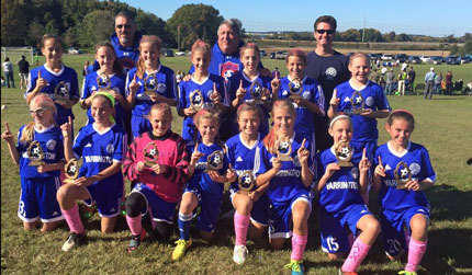 U12 Girls Storm are U13 Gold Division Champs in Western Lehigh Fall Festival