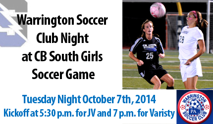 Warrington Soccer Club Night At CB South Girls Soccer Game