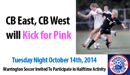CB East, CB West will Kick for Pink