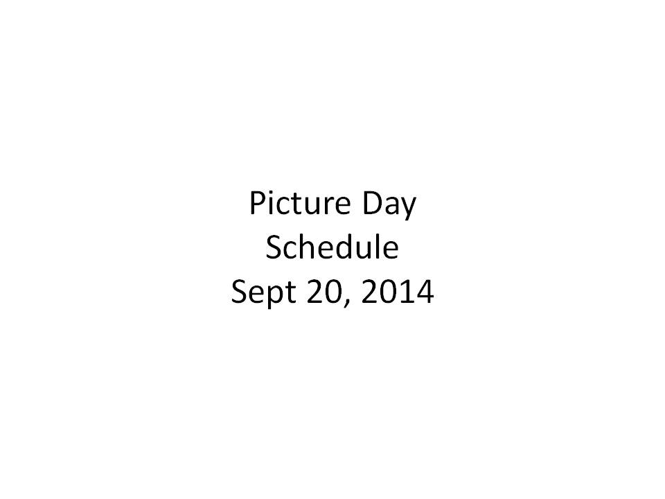 Warrington Soccer Club - Picture Day Schedule Sept 20th 2014 at Jamison Elementary School
